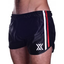 BoXer 80s Miniboxer Football Shorts Black/Red And White Stripes