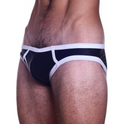 BoXer Y-Front Smoothe Brief Underwear Black/White (T5558)