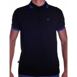 BoXer X-Polo Shirt Black/Blue Stripes