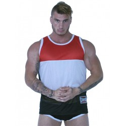 GBGB Jackson Muscle Tank Top Red/White/Black