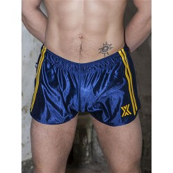 BoXer 80s Miniboxer Football Shorts Marine/Yellow