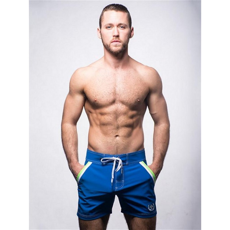 Andrew Christian Crew Swim Shorts Swimwear Royal (T5458)