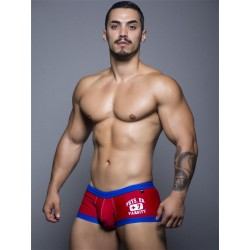 Andrew Christian Varsity Trunk Swimwear Low-Cut Red (T5444)