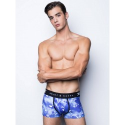 Skull & Bones Tossed Skull Trunk Underwear Blue