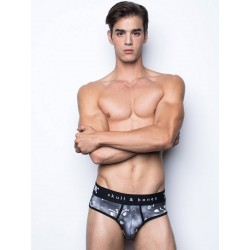 Skull & Bones Tossed Skull Brief Underwear Black