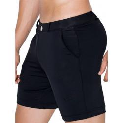 2Eros Long Bondi Bar Beach Swim Shorts Black (T6106)