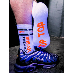 Sneak Freaxx Top Neon Socks White One Size (T6210)