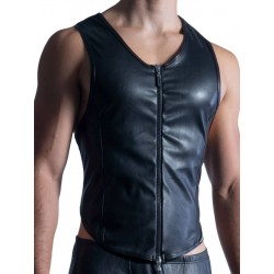Manstore Zipped Vest M854 Black (T6336)