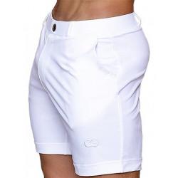 2Eros Long Bondi Bar Beach Swim Shorts White (T6279)