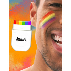 RudeRider Pride Gear Rainbow Face Paint MakeUp Set