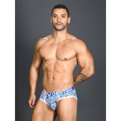 Andrew Christian Sexy Sailor Stripe Brief w/ Almost Naked Underwear (T6508)