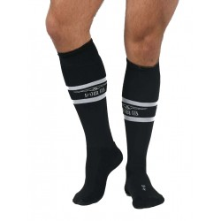 MisterB Urban Football Socks with Pocket Black