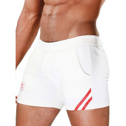 TOF Paris Shorts White/Red (T7116)