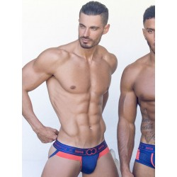 2Eros Kratos Jockstrap Underwear Fiery Seas Blue/Orange (T7223)
