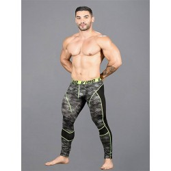 Andrew Christian Vibe Frequency Tights w/ Mesh Black/Grey (T7395)