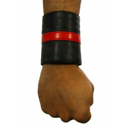 RudeRider Wrist Wallet Leather Black/Red (T7318)