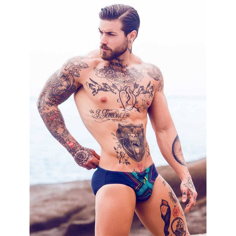 2Eros Print Swimwear Brief Siam (T7652)