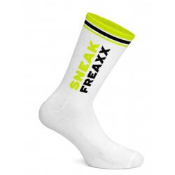 Sneak Freaxx Black Yellow Neon Socks White One Size (T7651)