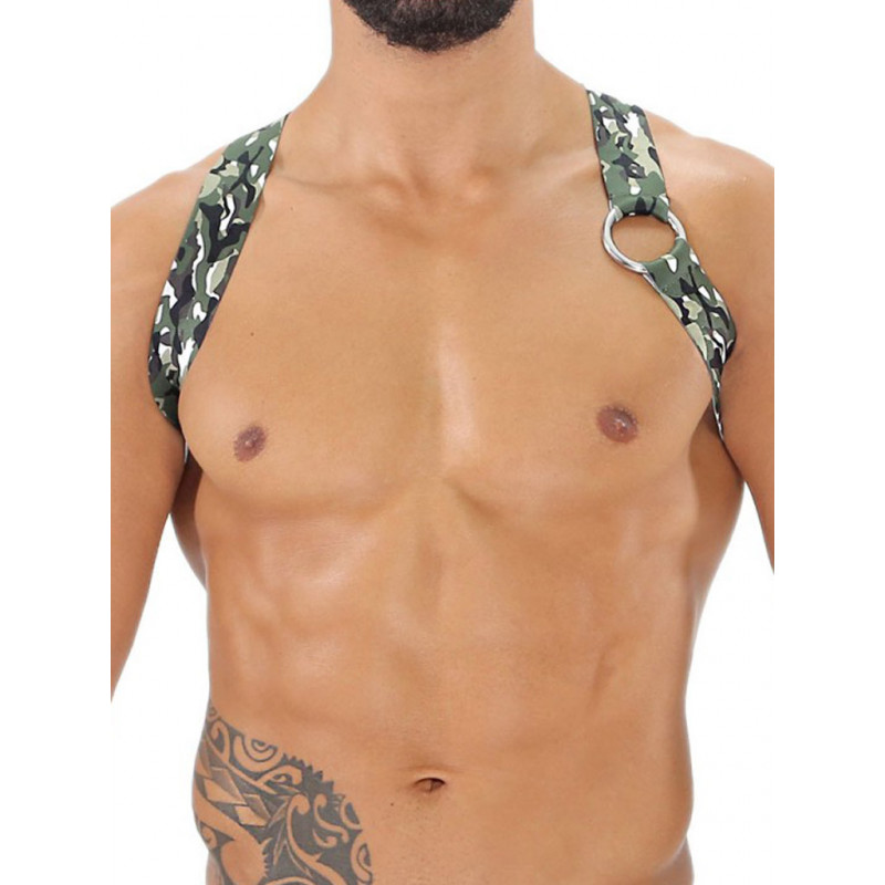TOF Party Boy Elastic Harness Camo Khaki (T7934)