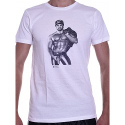 Tom of Finland Hot & Heavy T-Shirt (Euro Size) White