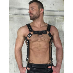 BoXer Leather Bracer Harness Black (T5392)