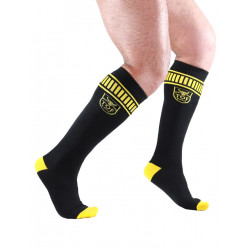 TOF Paris Football Socks Black/Yellow (T7145)
