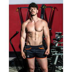 TOF Camo Gym Shorts Navy (T8177)