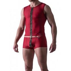 Manstore Zipped Vest M524 Underwear Red