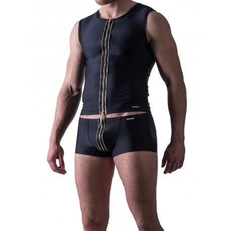 Manstore Zipped Vest M524 Underwear Black (T3875)
