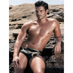 2Eros Cuban Swim Brief Swimwear Black/Gold (T4216)