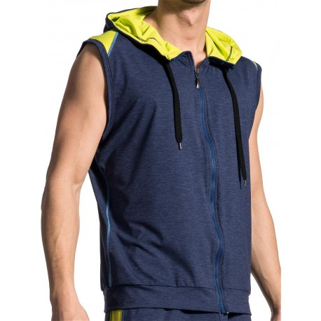 Olaf Benz Hoody Vest RED1710 Night-Lime (T5115)