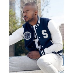 Supawear Sports Club Varsity Jacket Navy