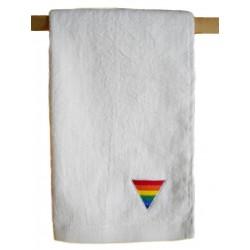 Rainbow Triangle Towel/Handtuch White 40x66 cm / 16x26 inch (T5245)