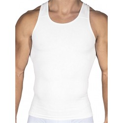 Rounderbum Compression Tank Top Seamless White