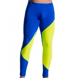 Olaf Benz Leggings RED1715 Underwear Blue/Lemon